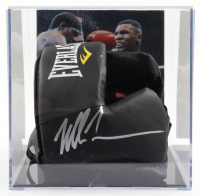 Mike Tyson Signed Everlast Headgear with Photo Display Case (PSA Hologram) (See Description) at PristineAuction.com
