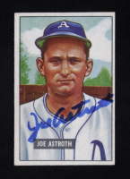 Joe Astroth Signed 1951 Bowman #298 RC (Beckett COA) at PristineAuction.com
