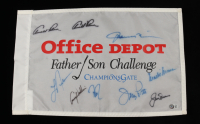 Father Son Challenge Golf Flag Signed by (7) with Jack Nicklaus, Fuzzy Zoeller & Davis Love III (Beckett LOA) (See Description) at PristineAuction.com