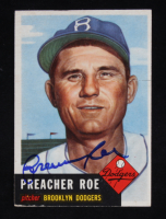 Preacher Roe Signed 1953 Topps #254 (Beckett COA) at PristineAuction.com