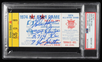"""Nolan Ryan Signed 1974 All-Star Game Ticket Inscribed """"324 Wins"""" """"5,714 Strikeouts"""" & """"7 No-Hitters""""  (PSA Encapsulated) at PristineAuction.com"""