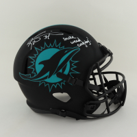 """Ricky Williams Signed Dolphins Full-Size Eclipse Alternate Speed Helmet Inscribed """"Smoke Weed Everyday!"""" (Schwartz Sports COA) at PristineAuction.com"""
