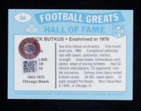 Dick Butkus Signed 1988 Swell Greats #36 79 (Beckett COA) at PristineAuction.com