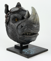 """Kevin Eastman Signed """"Teenage Mutant Ninja Turtles"""" - Rocksteady - Life-Size Hand-Painted Sculpture by Tate Steinsiek (PA COA) (1/1) at PristineAuction.com"""