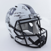 """L. J. Collier Signed TCU Horned Frogs Full-Size Speed Helmet Inscribed """"Go Frogs"""" (JSA COA) at PristineAuction.com"""