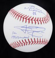 "Johnny Manziel Signed OML Baseball Inscribed ""12 Heisman"" & ""$ Money Manziel $"" (JSA COA) at PristineAuction.com"