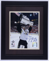 """Marc-Andre Fleury Signed Penguins 13x16 Custom Framed Photo Display Inscribed """"SCAC Nice Picture"""" (Beckett LOA) (See Description) at PristineAuction.com"""