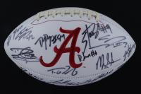 Alabama Crimson Tide Logo Football Team-Signed by (23) with Mark Ingram, Eddie Lacy, Trent Richardson, Derrick Henry (JSA LOA, Ingram Hologram & Henry Hologram) at PristineAuction.com
