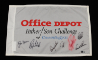 Father Son Challenge Golf Flag Signed by (7) with Jack Nicklaus, Ray Floyd, Lany Wadkins, Arnold Palmer (Beckett LOA) (See Description) at PristineAuction.com