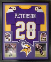 Adrian Peterson Signed 34x42 Custom Framed Jersey (Beckett COA) at PristineAuction.com