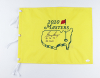 """Gary Player Signed 2020 Masters Flag Inscribed """"61, 74, 78, 52 Times"""" (JSA COA) at PristineAuction.com"""