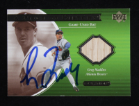 Greg Maddux Signed 2001 Upper Deck Ovation A Piece of History #GM (Beckett COA) at PristineAuction.com