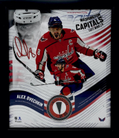 Alexander Ovechkin LE Capitals 15x17 Custom Framed Game-Used Puck Piece With Collage Photo Display (Fanatics Hologram) at PristineAuction.com