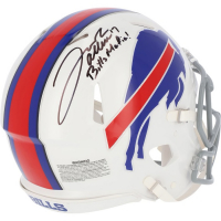 "Josh Allen Signed Bills Full-Size Authentic On-Field Speed Helmet Inscribed ""Bills Mafia!"" (Fanatics Hologram) at PristineAuction.com"
