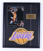 Kobe Bryant Lakers 18x22 Custom Framed Photo Display With Logo Patch at PristineAuction.com