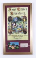 "Walt Disney World Fantasyland's ""Snow White's Adventures"" 15x26 Custom Framed Vintage Postcard Display with Fantasyland Ticket at PristineAuction.com"
