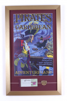 """Disneyland """"Pirates of the Caribbean"""" 15x26 Custom Framed Print Display with Ticket Booklet & Pirates of the Caribbean Pin at PristineAuction.com"""