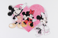 Mickey & Minnie Mouse - Disney - Brian Barton 12x18 Signed Limited Edition Lithograph #/250 (PA COA) at PristineAuction.com