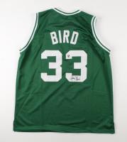 Larry Bird Signed Jersey (Bird Hologram) at PristineAuction.com