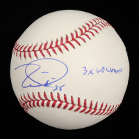 "Tim Lincecum Signed OML Baseball Inscribed ""3X WS Champ"" (JSA COA) at PristineAuction.com"