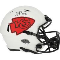 Travis Kelce Signed Chiefs Full-Size Lunar Eclipse Alternate Speed Helmet (Fanatics Hologram) at PristineAuction.com