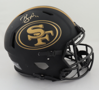 Brandon Aiyuk Signed 49ers Full-Size Authentic On-Field Eclipse Alternate Speed Helmet (Beckett COA) (See Description) at PristineAuction.com