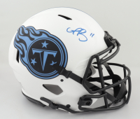 """A. J. Brown Signed Titans Full-Size Authentic On-Field Lunar Eclipse Alternate Speed Helmet Inscribed """"Titan Up"""" (Beckett Hologram) (See Description) at PristineAuction.com"""