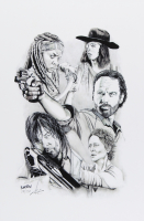 The Walking Dead - Brian Barton 12x18 Signed Limited Edition Lithograph #/250 (PA COA) at PristineAuction.com