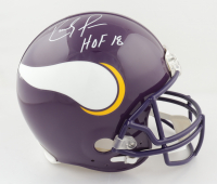 """Randy Moss Signed Vikings Full-Size Authentic On-Field Helmet Inscribed """"HOF 18"""" (JSA COA) (See Description) at PristineAuction.com"""