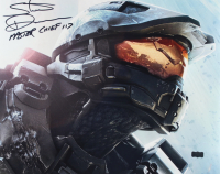"Steve Downes Signed ""Halo"" 16x20 Photo Inscribed ""Master Chief"" & ""117"" (Radtke Hologram) at PristineAuction.com"