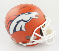 John Elway Signed Broncos Full-Size Authentic On-Field Throwback Logo Helmet (Beckett COA) (See Description) at PristineAuction.com
