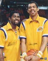 Magic Johnson & Kareem Abdul-Jabbar Signed Lakers 16x20 Photo (Radtke Hologram) (See Description) at PristineAuction.com