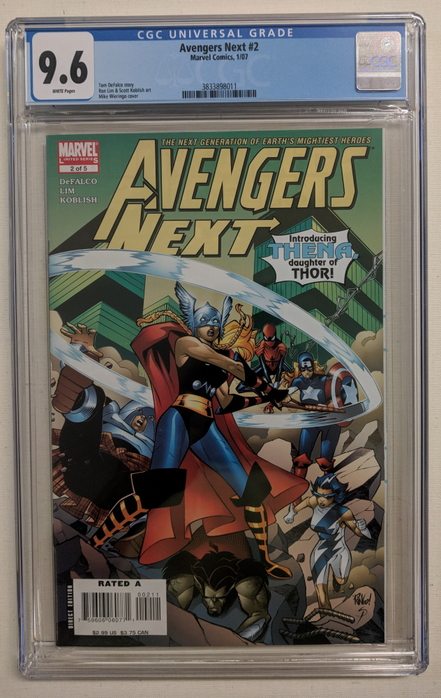"""2007 """"Avengers Next"""" Issue #2 Marvel Comic Book (CGC 9.6) at PristineAuction.com"""