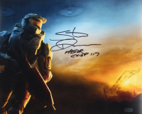 """Steve Downes Signed """"Halo"""" 16x20 Photo Inscribed """"Master Chief"""" & """"117"""" (Radtke COA) at PristineAuction.com"""