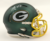 Aaron Rodgers Signed Packers Blaze Speed Mini-Helmet (Fanatics Hologram) (See Description) at PristineAuction.com