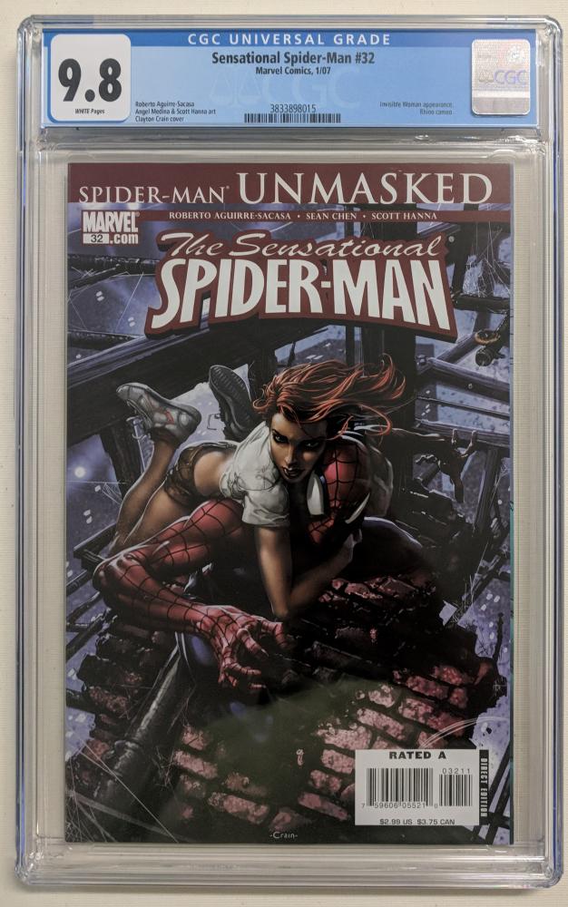 "2007 ""Sensational Spider-Man"" Issue #32 Marvel Comic Book (CGC 9.8) at PristineAuction.com"