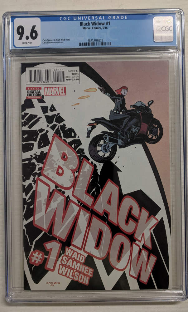 """2016 """"Black Widow"""" Issue #1A Marvel Comic Book (CGC 9.6) at PristineAuction.com"""
