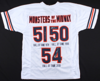 """Dick Butkus, Mike Singletary & Brian Urlacher Signed """"Monsters of the Midway"""" Jersey (Beckett Hologram) at PristineAuction.com"""