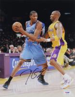 Kevin Durant Signed Thunder 11x14 Photo (PSA COA) at PristineAuction.com