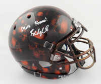 """Baker Mayfield Signed Full-Size Authentic On-Field Hydro Dipped Helmet Inscribed """"Dawg Pound!"""" (Beckett COA) (See Description) at PristineAuction.com"""