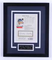 Mickey Mantle Signed 16x19 Framed Display (JSA LOA) (See Description) at PristineAuction.com