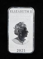 2021 Perth Mint 1 Oz .999 Fine Silver Australian Dragon $1 Bullion Bar at PristineAuction.com