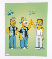 """Cheech Marin & Tommy Chong Signed """"Simpsons"""" 16x20 Photo (JSA COA) at PristineAuction.com"""