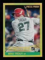 Mike Trout 2018 Donruss Gold Press Proof Variations #242 RETRO #27/99 at PristineAuction.com