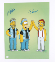 """Cheech Marin & Tommy Chong Signed """"Simpsons"""" 16x20 Photo (JSA COA) (See Description) at PristineAuction.com"""