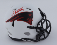 Deion Branch Signed Patriots Lunar Eclipse Alternate Speed Mini Helmet (Beckett COA) at PristineAuction.com