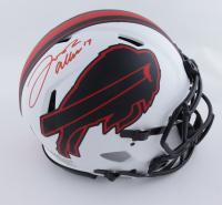 Josh Allen Signed Bills Full-Size Authentic On-Field Lunar Eclipse Alternate Speed Helmet (Beckett COA) (See Description) at PristineAuction.com