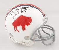 "O. J. Simpson Signed Bills Mini Helmet Inscribed ""HOF 85"" (JSA COA) at PristineAuction.com"