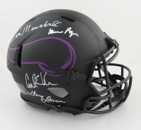 Vikings Full-Size Authentic On-Field Eclipse Alternate Speed Helmet Signed by (4) Jim Marshall, Carl Eller, Alan Page & Gary Larsen (Beckett COA) at PristineAuction.com