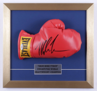 Mike Tyson Signed 14x15 Custom Framed Boxing Glove Display (PSA COA) (See Description) at PristineAuction.com